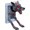 Animated Feral Doggy Door Trick Or Treat Halloween Prop