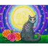 "Prints - Day of the Dead Cat Moon 8"" x 10"""