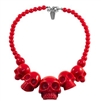 Skull Collection Necklace Red