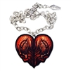 Kreepsville 666 Red Skull Heart Necklace