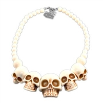 Skull Collection Necklace White