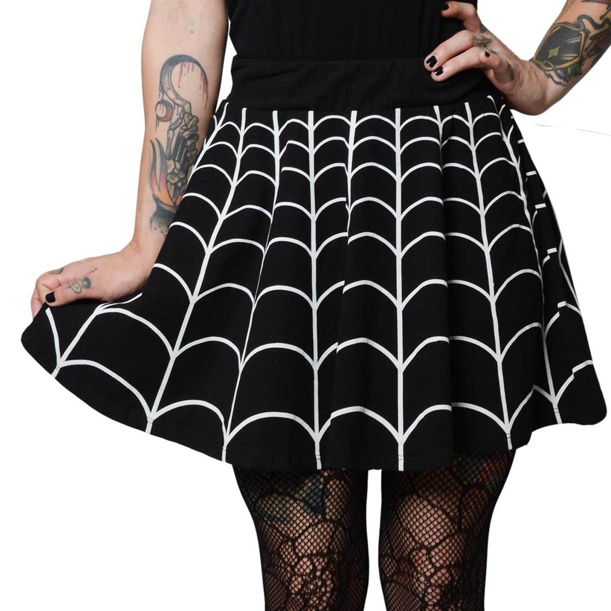 Spiderweb White Skater Skirt 63eae1823