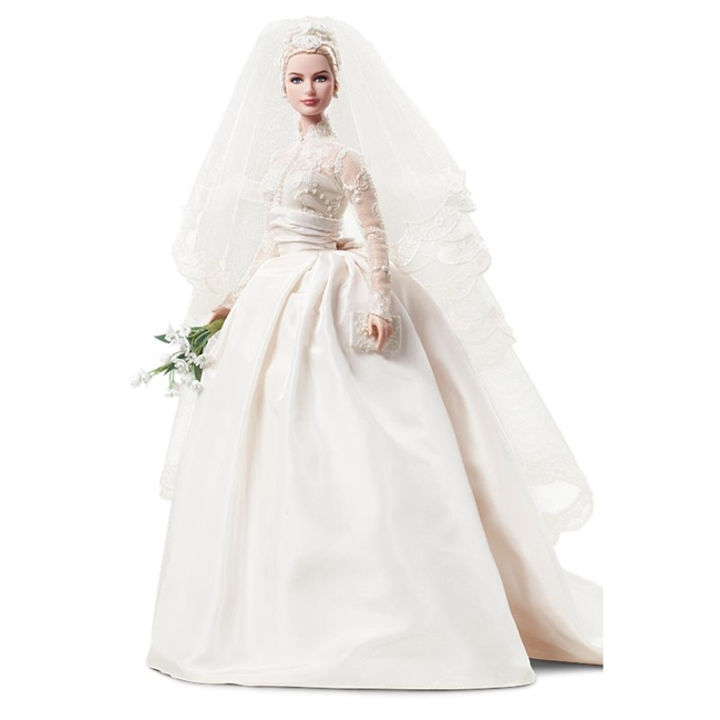Silkstone Barbie Doll Grace Kelly Wedding Fashion Model Collection  T7942