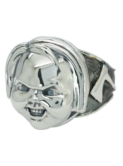 Child's Play 2 Chucky Sterling Silver Ring