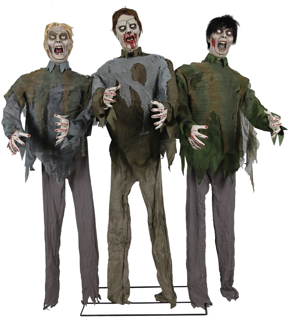 Zombie Horde Animated Lifelike Halloween Prop Trick or Treat