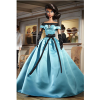 Silkstone Barbie Blue Ball Gown Fashion Model Collection