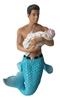 Baby Daddy Merman December Diamond Collectible Figurine Statue