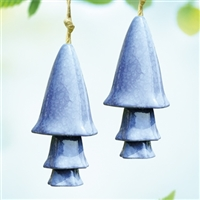 Blue Mushroom Windchime, Set of 2