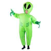 Inflatable Alien  Halloween Costume Trick or Treat One Size Fits All Adults
