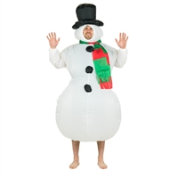 Inflatable Snowman Hallowen Costume Trick or Treat One Size Fits All Adults