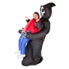 Inflatable Lift You Up Grim Reaper Halloween Costume Trick or Treat One Size Fits All Adults