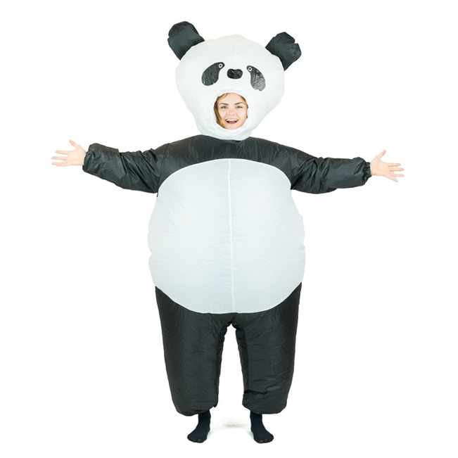 Inflatable Panda Halloween Costume Trick or Treat One Size Fits All Adults
