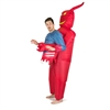 Inflatable Devil   Halloween Costume Trick or Treat One Size Fits All Adults