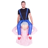 Inflatable Lady Muscle Suit Halloween Costume One Size Fits All Adults