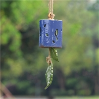 Blue Silhouette Birds Ceramic Windchime