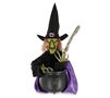 Animated Witch Stirring Cauldron Halloween Trick or Treat Prop