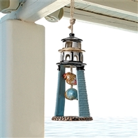 Blue Lighthouse Ceramic Windchime