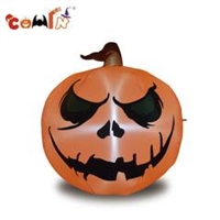4 foot tall garden inflatable spooky scene green eyes halloween pumpkin