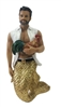 Conch Daddy Merman December Diamond Collectible Figurine Statue