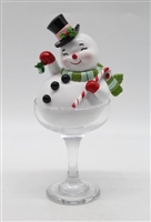 December Diamonds  Retro Snowman in Martini Glass
