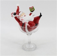 December Diamonds  Retro Santa Claus in Martini Glass