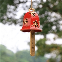 Dragonfly Pattern Ceramic Windchime