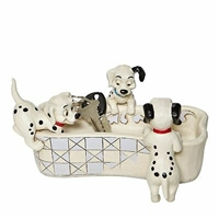 Jim Shore Disney Traditions NEW 2020 101 Dalmations Trinket Box Puppy Bowl