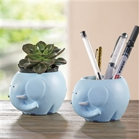Elephant Planter Holder Set of 2