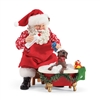 Possible Dreams Splish Splash Santa Claus With Dog Statue Figurine