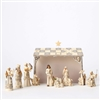 Jim Shore Heartwood Creek White Nativity 8 pc Figurine Set