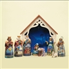 Jim Shore Heartwood Creek Deluxe Mini Nativity 9 pc Figurine Set