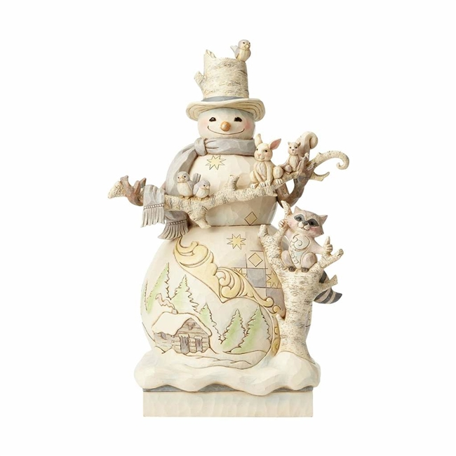 Buy all your Jim Shore collectibles here and get free shipping at boodee.net jim Shore Heartwood Creek White Woodland Snowman Statue Figurine is hand painted and a magical figure. Jim Shores collectibles are here at boodee.net on sale now but it now.