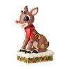 Jim Shore Rudolph w/Lighted Nose Statue Figurine