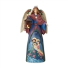 Jim Shore Heartwood Creek Lighted Angel With Holy Scene Statue Statue Figurine