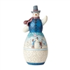 Jim Shore Heartwood Creek Snowman with Winter Scene Statue Statue Figurine