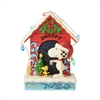 Jim Shore Peanuts Snoopy by Dog House with Lights Statue Figurine