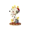 Jim Shore Peanuts Snoopy Wrapped In Lights Statue Figurine