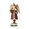 Jim Shore Victorian Angel with Cards Statue Figurine