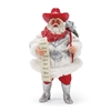 Possible Dreams Rhinestone Cowboy Santa Claus