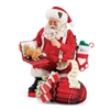 Possible Dreams Cat-Mouse Game Santa Claus Figurine