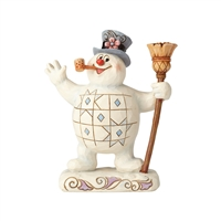 Frosty The Snowman with Broom Christmas Collectible Figurine