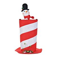 Animated Snowman in Hat Christmas Musical Gift