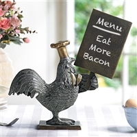 Rooster Menu Board Kitchen Decorations