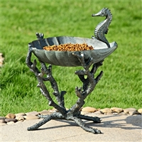 Seahorse Birdbath / Birdfeeder Garden and Lawn Decorations