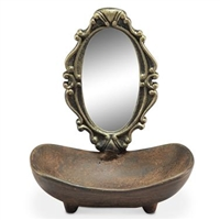 Soap Dish with Vanity Mirror Kitchen or Bathroom Decorations