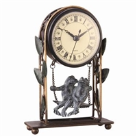 Romancing Frogs Clock Home Decorations