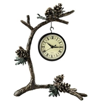 Pinecone and Branch Clock Home Decorations