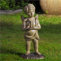 Cherub Garden Lantern Lantern Lawn and Garden Decorations