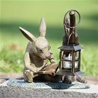 Booklover Rabbit Garden Lantern Lawn and Garden Decorations