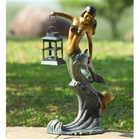 Mermaid  Lantern Lawn and Garden Decorations